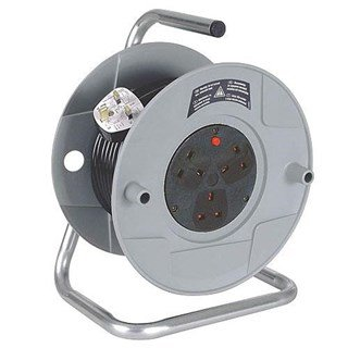 Cable Reel (240v, 3 Sockets, 25m Cable)