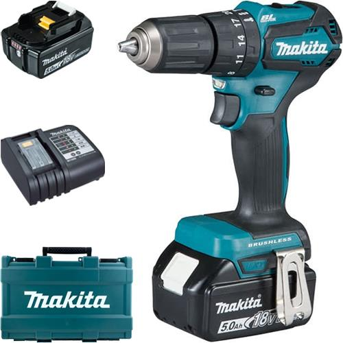 Makita DHP483 18V Brushless Combi Drill (2x 5Ah) *Black Edition*