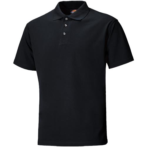 Dickies SH21220 Black Short Sleeve Polo Shirt