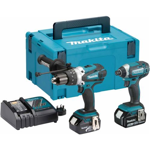 makita dlx2145tj 18v combi drill impact driver kit 2x 5ah. Black Bedroom Furniture Sets. Home Design Ideas