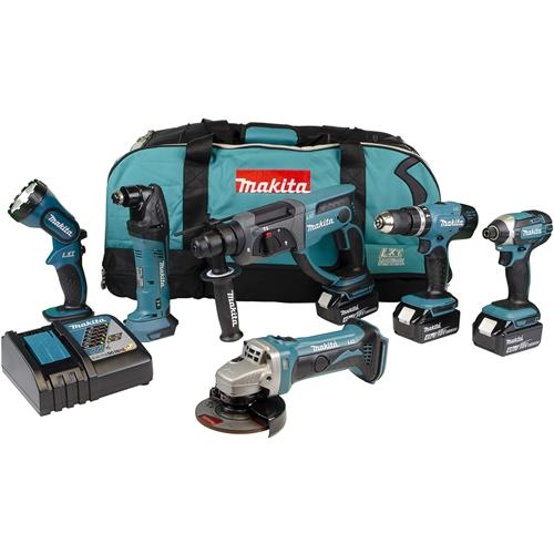 Makita DLX6075M 6pc 18V Tool Kit (3x 4Ah)