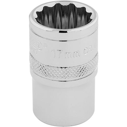 "Draper Hi-Torq 12-Point Socket 17mm (1/2"" Square Drive)"