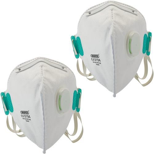 Draper FFP3 NR Vertical Fold Flat Masks (2pk)