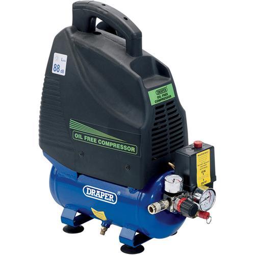 Draper 6Ltr 1.1kW Oil-Free Air Compressor (240v)