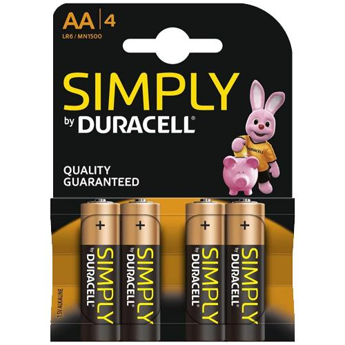 Simply Duracell AA Batteries (4pk)