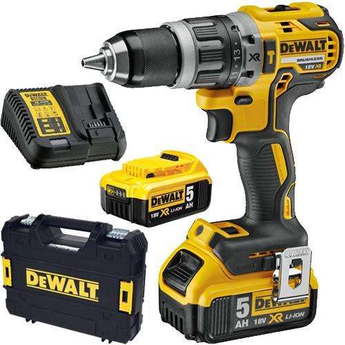 DeWalt DCD796P2 18V Compact Brushless Combi Drill (2x 5Ah)