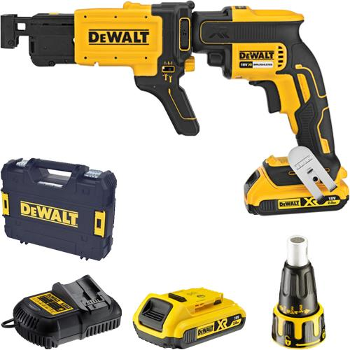 DeWalt DCF620D2K 18V Brushless Collated Drywall Screwdriver (2x 2Ah)
