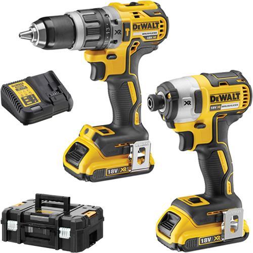 DeWalt DCK266D2 18V Brushless Combi Drill & Impact Driver Set (2x 2Ah)