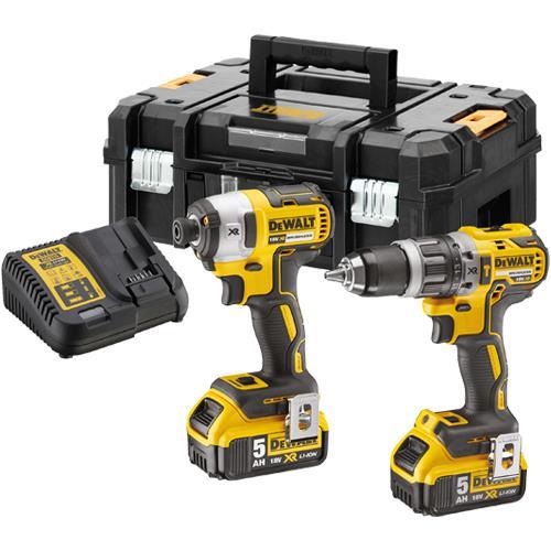 DeWalt DCK266P2 18V Set: Combi Drill + Impact Driver (2x 5Ah)