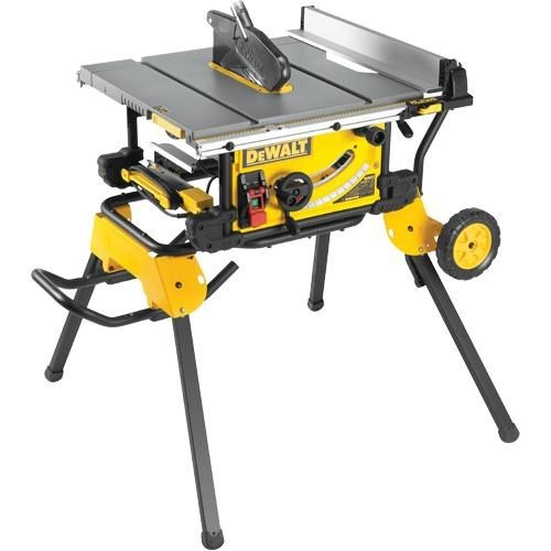 Dewalt Dwe7491 250mm Table Saw With Rolling Stand 240v