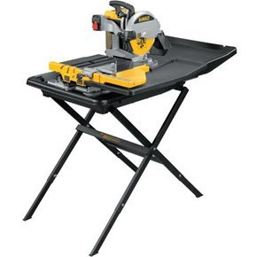 DeWalt D24000 Sliding Table Wet Tile Saw 250mm