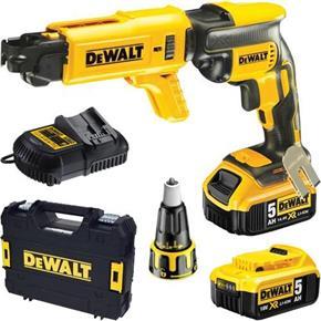 DeWalt DCF620P2K 18V Brushless Collated Drywall Screwdriver (2x 5Ah)