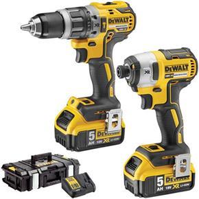DeWalt DCK266P2 18V Hammer Drill + Impact Driver (2x 5Ah)
