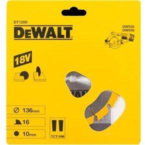 DeWalt DT1200 Saw Blade 136mmx16Tx10mm