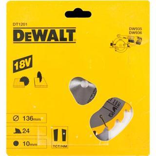 DeWalt DT1201 TCT Saw Blade 136mmx24Tx10mm