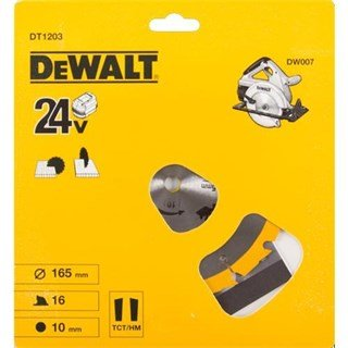 DeWalt DT1203 TCT Saw Blade 165mmx16Tx10mm