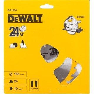 DeWalt DT1204 TCT Saw Blade 165mmx24Tx10mm