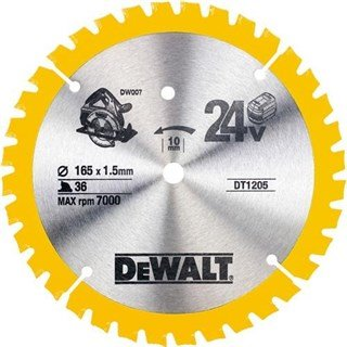 DeWalt DT1205 TCT Saw Blade 165mmx36Tx10mm
