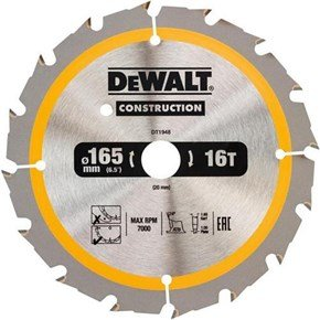 DeWalt DT1948 TCT Blade 165mm x 20mm 16T