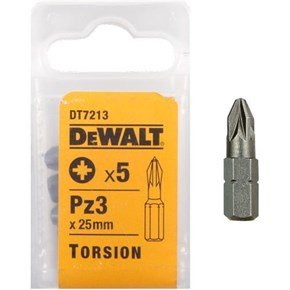 DeWalt 25mm Pz3 Torsion Bit x5