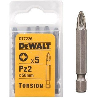 DeWalt 50mm Pz2 Torsion Bit x5