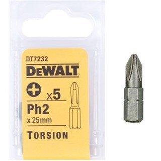 DeWalt 25mm Ph2 Torsion Bit x5