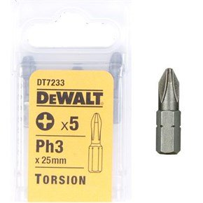 DeWalt 25mm Ph3 Torsion Bit x5