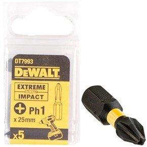 DeWalt Ph1 25mm Impact Screwdriver Bit x5