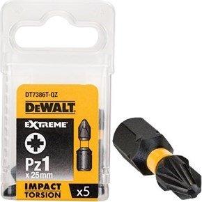 DeWalt Pz1 25mm Impact Screwdriver Bit x5