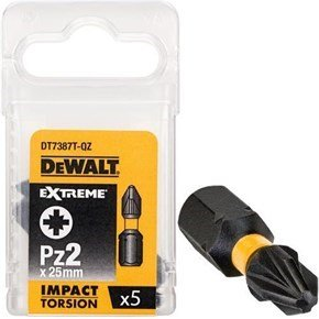 DeWalt Pz2 25mm Impact Screwdriver Bit x5