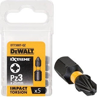 DeWalt Pz3 25mm Impact Screwdriver Bit x5