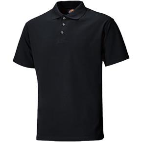 Dickies Black Short Sleeve Polo Shirt