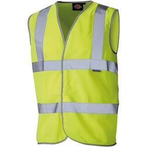 Dickies Yellow Hi-Vis Safety Waistcoat