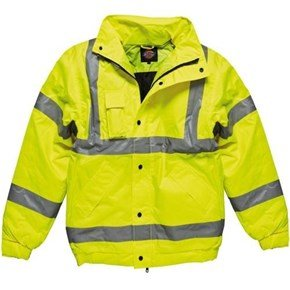 Dickies Yellow Hi-Vis Bomber Jacket