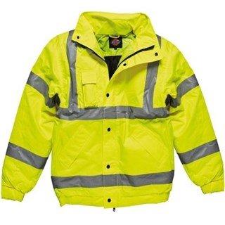 Dickies Yellow Hi-Vis Bomber Jacket