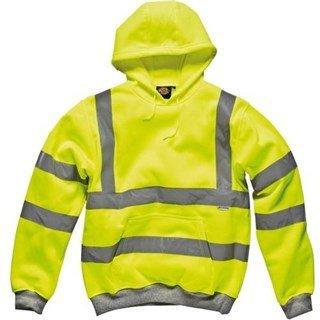 Dickies Yellow Hi-Vis Hooded Sweatshirt