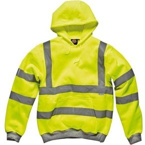 Dickies Yellow Hi-Vis Hooded Sweatshirt