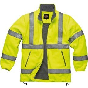 Dickies Yellow Hi-Vis Lined Fleece