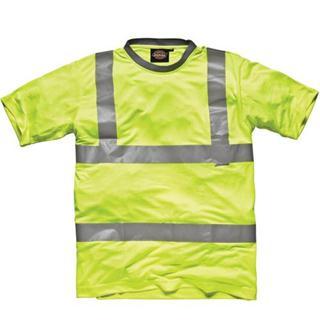 Dickies Yellow Hi-Vis Safety T-Shirt