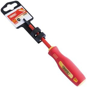 Draper Fully Insulated Screwdriver 3mm x 75mm Plain Slot