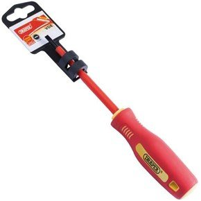 Draper Fully Insulated Screwdriver 4mm x 100mm Plain Slot