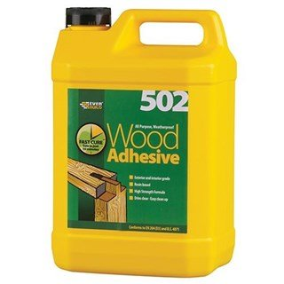 Everbuild 502 Waterproof Wood Adhesive 5litre