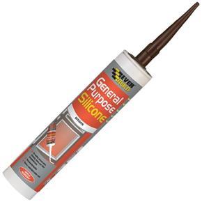 Everbuild General-Purpose Silicone Sealant (Brown) 310ml