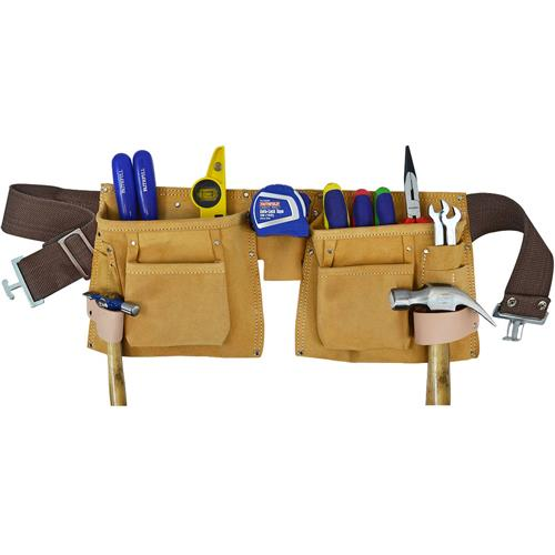 Faithfull Double Tool + Nail Pouch
