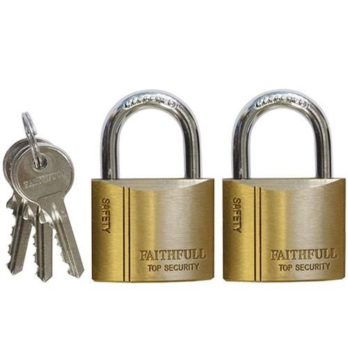 Faithfull Brass Padlocks (2pk)