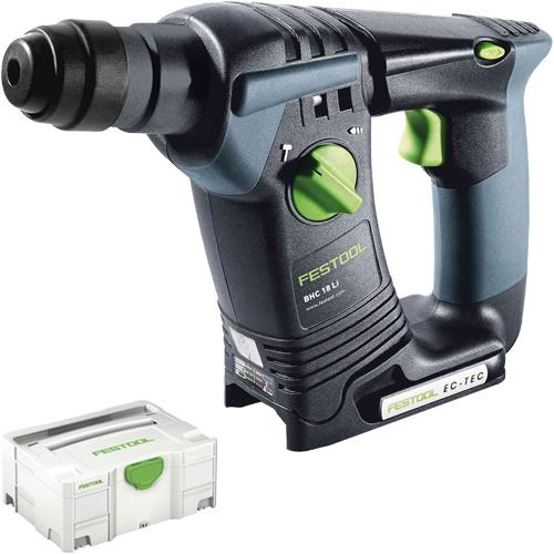 festool bhc 18 18v sds plus hammer drill body only in systainer. Black Bedroom Furniture Sets. Home Design Ideas
