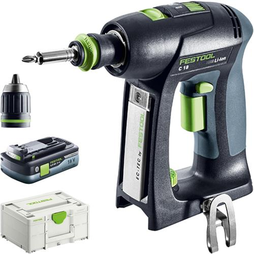 Festool C 18 18V Drill Driver (Naked) *PROMO* with 4Ah Battery