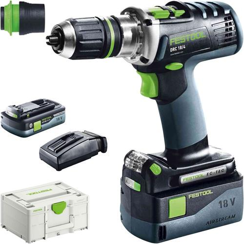 Festool DRC 18/4 18V Drill Driver (1x 4Ah High-power & 1x 5.2Ah)