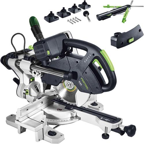 Festool kapex ks 60 e set sliding compound mitre saw kit for Troncatrice parkside