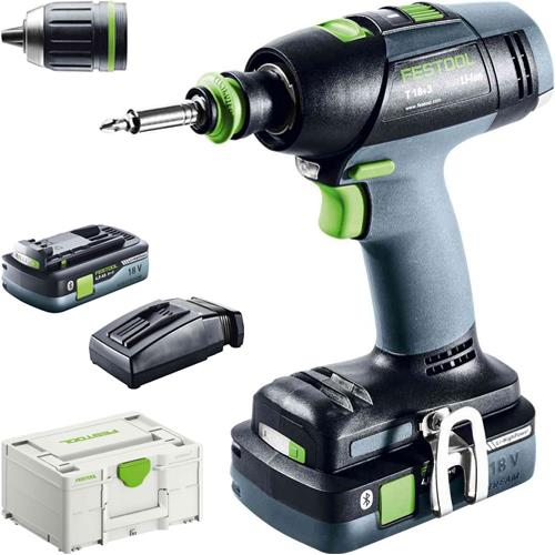 Festool T18+3 18V Brushless Drill Driver (2x 4Ah High-power)